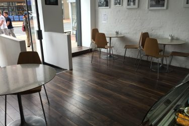 Top Quality Laminate Floor by Balterio - used here in Torino Cafe, Royal Avenue