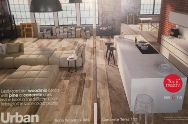 NEW URBAN WOODMIX Exciting new range of realistic flooring from Balterio!