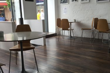 Top Quality Laminate Floor by Balterio - used hee in Torino Cafe, Royal Avenue